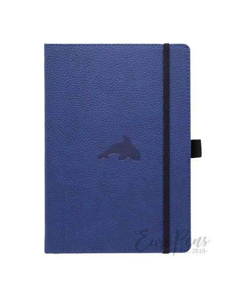 Dingbats A5 Blue Whale Notebook - Dotted Wildlife [D5023BL]