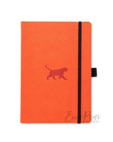 Dingbats A5 Orange Tiger Notebook - Lined Wildlife [D5008O]