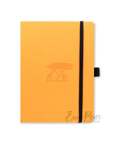 Dingbats Earth A5+ Tangerine Serengeti Notebook - Dotted Earth [D5623T]