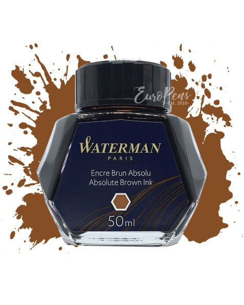 Waterman 50ml Bottled Ink - Absolute Brown