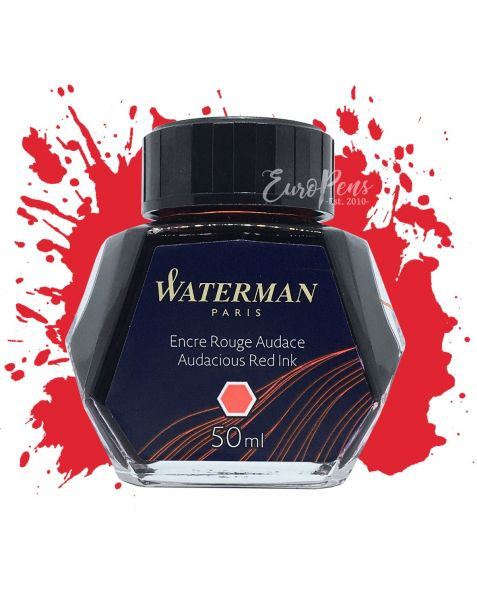 Waterman 50ml Bottled Ink - Audacious Red