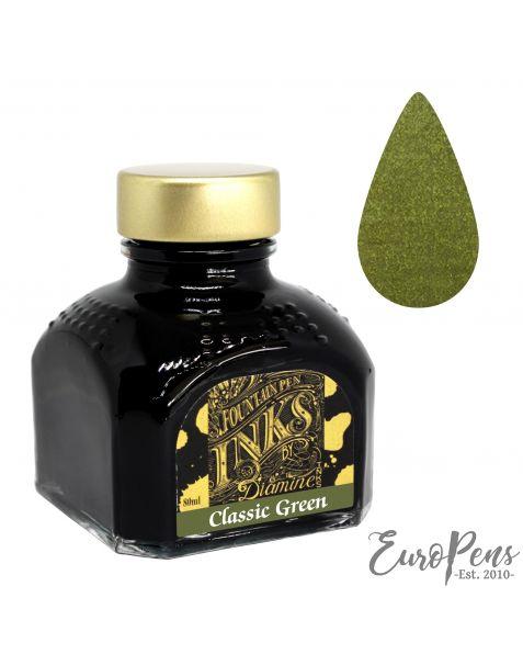 Diamine 80ml Bottled Ink - Classic Green
