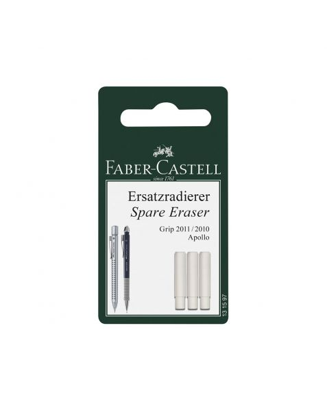 Faber Castell Grip-Matic 2011 Spare Erasers (131597) Pack of 3