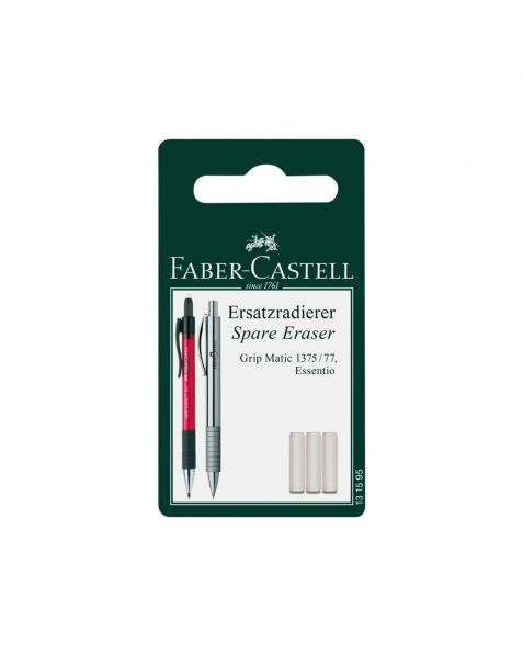 Faber Castell Grip Matic Spare Erasers (131595) Pack of 3