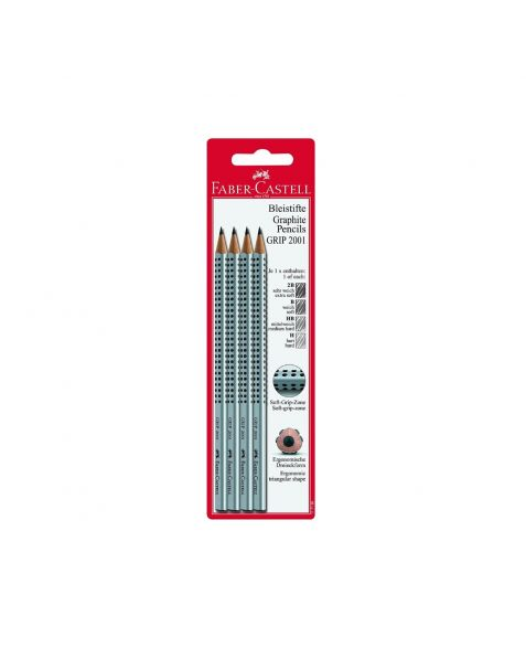 Faber Castell Grip Graphite Pencils (117198) Pack of 4