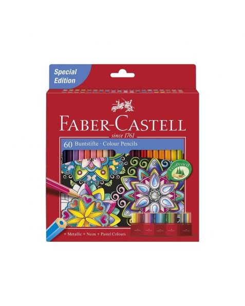 Faber Castell Coloured Pencils (111260) Pack of 60