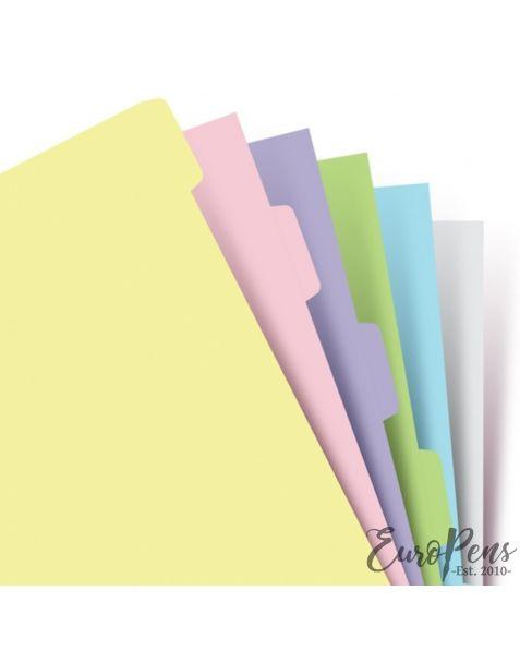 Filofax A5 Pastel Refill 6 Blank Tabs Index