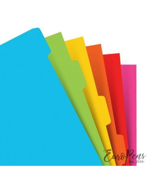 Filofax A5 Bright Coloured Indices Assorted