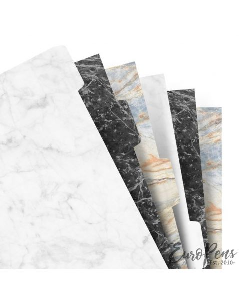Filofax A5 Marble Refill 6 Blank Tabs Index