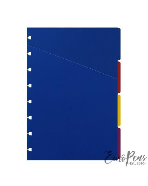Filofax A5 Notebook Bright Coloured Indices