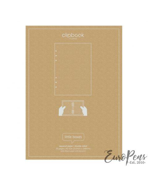 Filofax A5 Clipbook Squared Refill Paper
