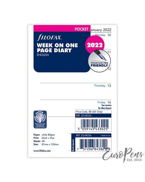 Filofax Pocket Week Per Page English - 2022