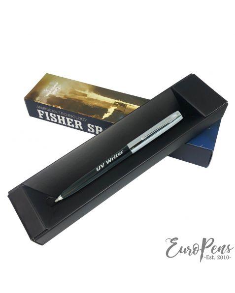 Fisher Apollo Cap-O-Matic Space Pen - UV Refill Plastic Barrel With Chrome Cap
