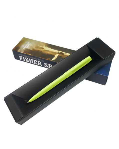 Fisher Space Pen - Cap-O-Matic - Fluorescent Yellow - Tradesman - Ballpoint Pen