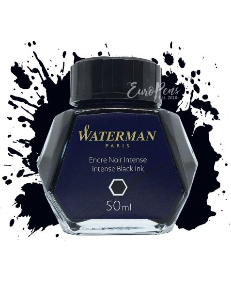 Waterman 50ml Bottled Ink - Intense Black
