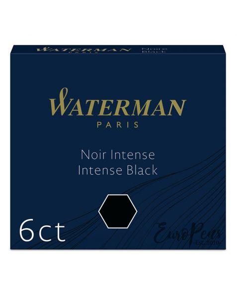 Waterman Ink Cartridges - 6 Pack - Intense Black
