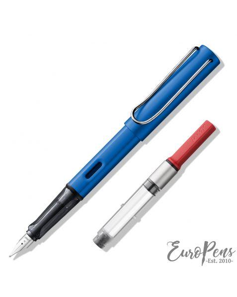 LAMY AL-Star Fountain Pen - Ocean Blue (028) & Z28 Ink Converter - Bundle