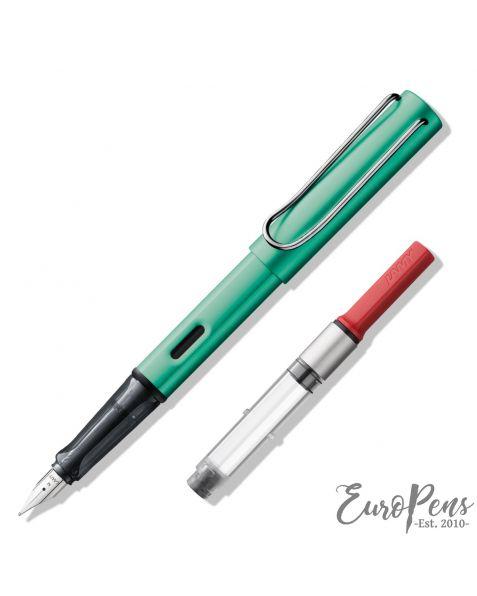 LAMY AL-Star Fountain Pen - Blue-Green (032) & Z28 Ink Converter - Bundle
