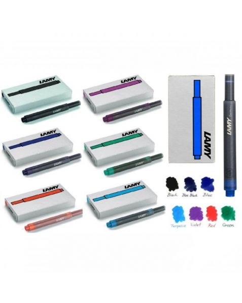 LAMY (T10) Ink Cartridges: 7 Mixed Colours