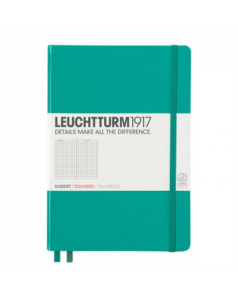 Leuchtturm1917 Notebook (A5) classic Hardcover-Emerald-Squared