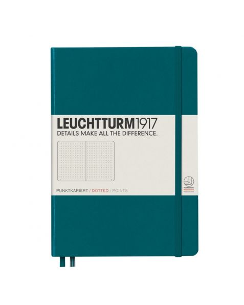 Leuchtturm1917 Notebook (A5) Classic Hardcover - Pacific Green - Dotted