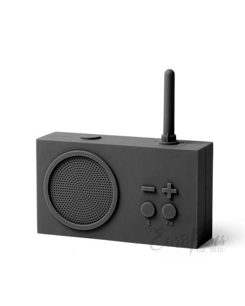 Lexon Tykho 3 - FM Radio & Bluetooth Speaker- Dark Grey (LA119g3)