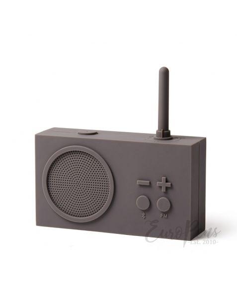 Lexon Tykho 3 - FM Radio & Bluetooth Speaker- Taupe Grey