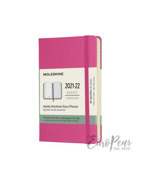 Moleskine Weekly Notebook - 2021 / 2022 - 18 Month - Pocket Hardcover - Bougainvillea Pink