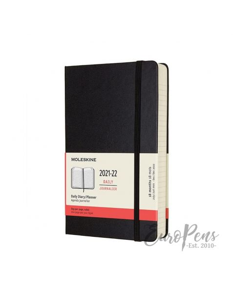 Moleskine Daily Notebook - 2021 / 2022 - 18 Month - Large (A5) Hardcover - Black