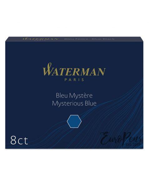 Waterman Ink Cartridges - 8 Pack - Mysterious Blue