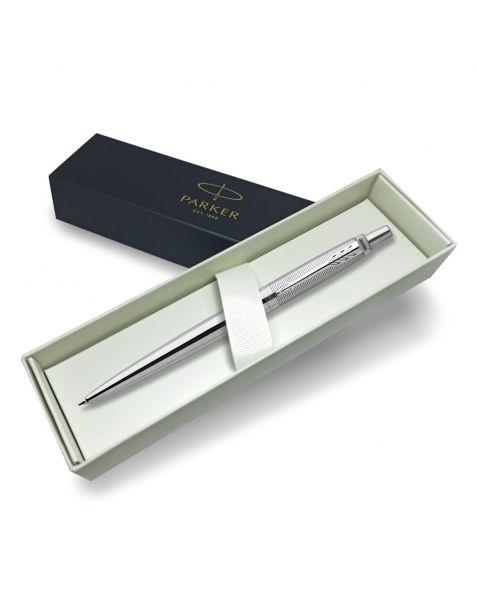 Parker Jotter Stainless Steel Ballpoint Pen - Diagonal Stripes