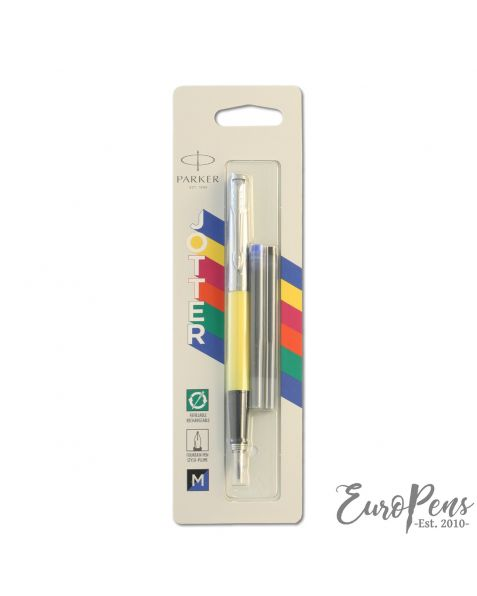 Parker Jotter - Original Classic Yellow Fountain Pen - Medium Nib - Blister Packed - 2096859