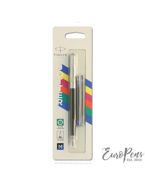 Parker Jotter - Original Classic Black Fountain Pen - Medium Nib - Blister Packed - 2096430