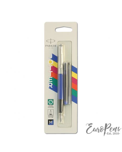 Parker Jotter - Original Classic Blue Fountain Pen - Medium Nib - Blister Packed - 2096858