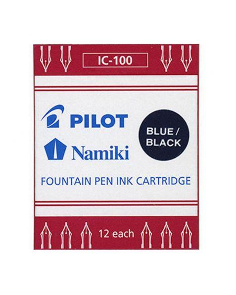 Pilot Parallel Pen Ink Cartridges (IC-100) - Blue / Black