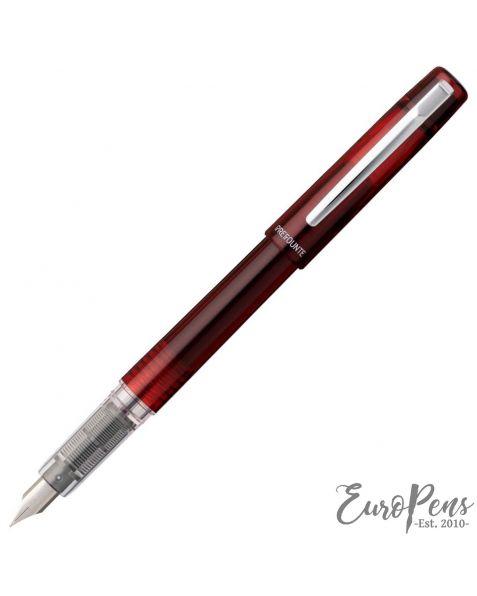Platinum Prefounte Fountain Pen Crimson Red - Fine Nib
