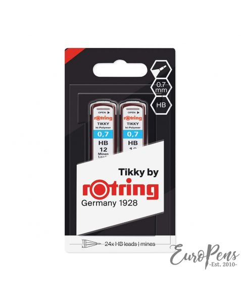 Rotring Pencil Leads - Pack Of 2 - 24 Leads - HB - 0.70mm