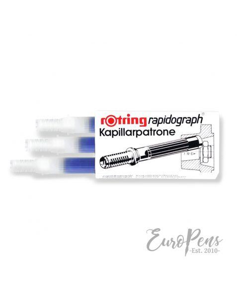 Rotring Rrapidograph Short Ink Cartridges - Blue