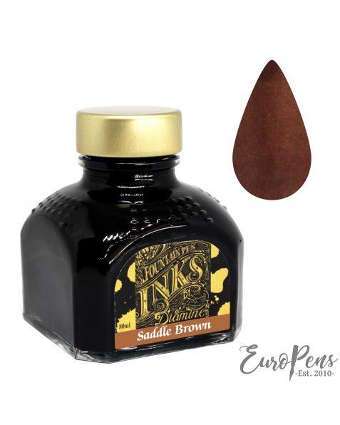 Diamine 80ml Bottled Ink - Saddle Brown
