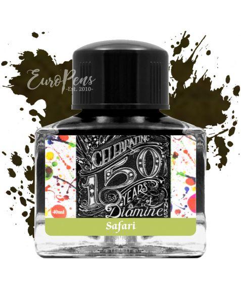 Diamine 40ml - Anniversary Bottled Ink - Safari Green