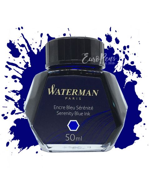 Waterman 50ml Bottled Ink - Serenity (Florida) Blue