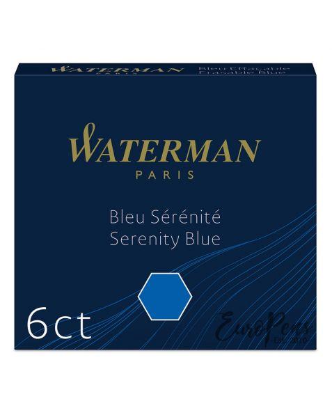 Waterman Ink Cartridges - 6 Pack - Serenity (Florida) Blue