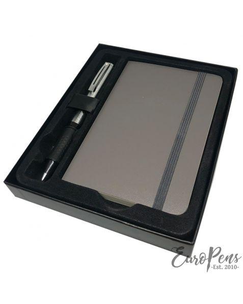 Sheaffer Award Ballpoint Pen - Brushed Chrome with Journal Gift Box