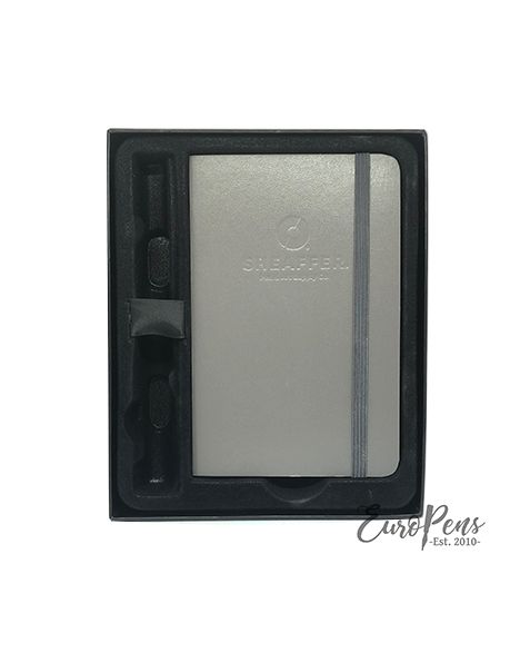 Sheaffer Award Fountain Pen - Matt Chrome with Journal Gift Box