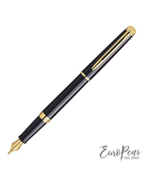 Waterman Hemisphere Fountain Pen - Matt Black - Gold Trim (Medium Nib)