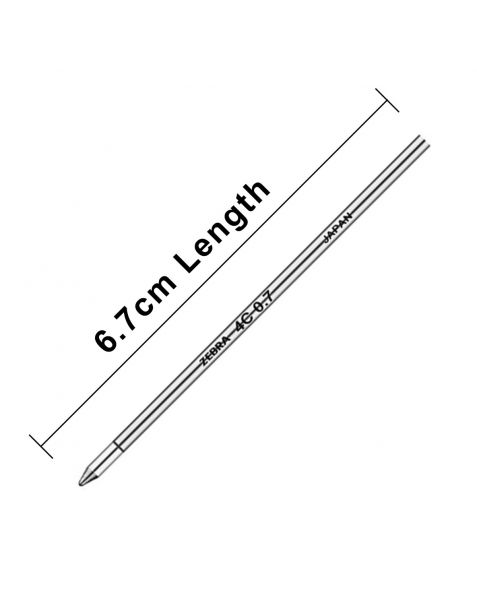 "Zebra (4C) Ballpoint Pen Refills ""D1 Format Refills"""